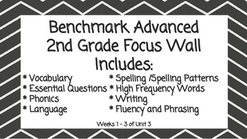Benchmark Advanced Second Grade Focus Wall Unit 3 (all weeks)