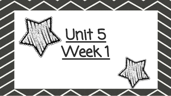 Benchmark Advanced Second Grade Focus Wall Unit 5 (all weeks)