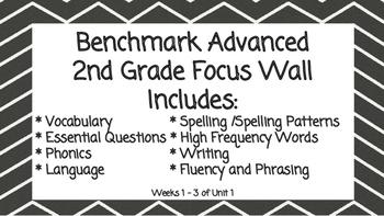 Benchmark Advanced Second Grade Focus Wall Units 1-10!!!