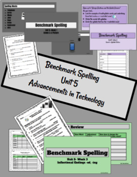 Benchmark Advanced Spelling, Grade 3 Unit 5 Supplemental Materials