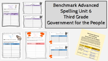 Benchmark Advanced Spelling Unit 6 Grade 3