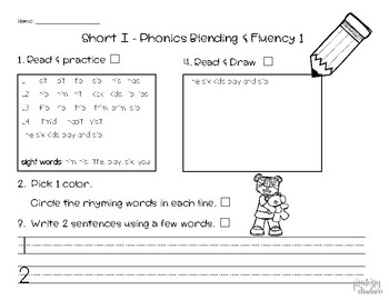Benchmark Advance Supplemental  First Grade Short i Unit 1 Week 2 #1