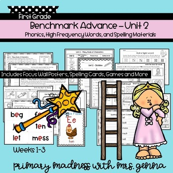 Benchmark Advance First Grade Unit 2 Supplemental Phonics for Students