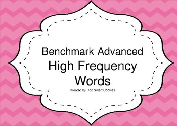 Benchmark Advanced Themed High Frequency Words and Flash Cards
