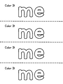 Benchmark Aligned Kindergarten Sight Word Mini-Booklet {Sight Word me}