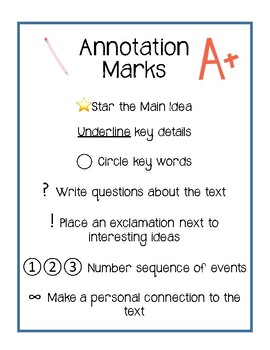 Benchmark Annotation Anchor Chart