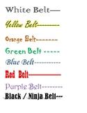 Benchmark Belt Test Chart