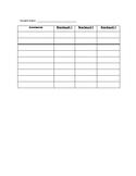 Benchmark Data Sheet