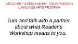Benchmark ELA 4th Grade - Day 1 and 2 Establishing Routines
