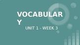 Benchmark ELA - 5th Grade - Vocabulary Powerpoint for Unit