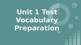 Benchmark ELA - 5th Grade -  Vocabulary Review for Unit 1