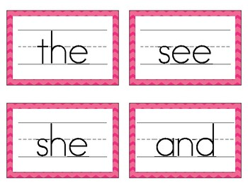 Benchmark First Grade High Frequency Words