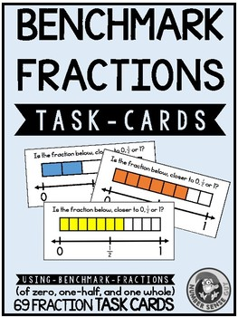 Benchmark Fraction (0, 1/2, and 1) Task Cards