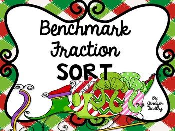 Benchmark Fraction Sort {Holiday Themed Freebie}