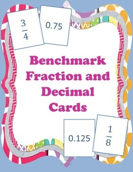 Fraction and Decimal Matching Cards { Math Center }
