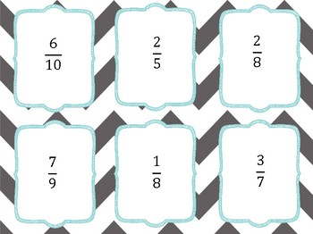 Benchmark Fractions Activity Pack 4.3F Task Cards, Matching Cards, Board Game