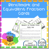Benchmark Fractions & Equivalent Fractions Cards - Game, Manipulative (4.N.F.1)