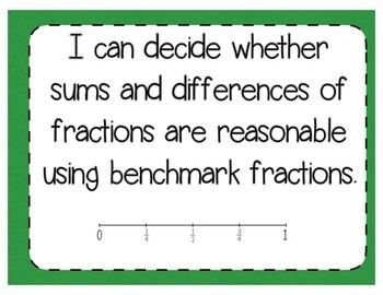 Benchmark Fractions Interactive Notebook Activity & Quick Check TEKS 4.3F