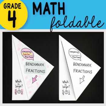 Math Doodle - Benchmark Fractions ~ INB Foldable Notes ~