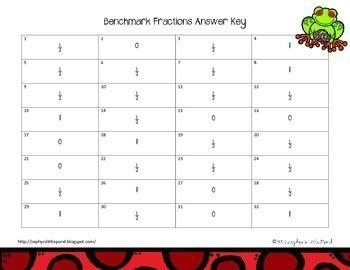 Benchmark Fractions {Math Task Cards}