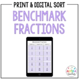 Benchmark Fractions Sorting Activity   Print and Digital