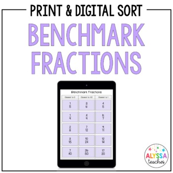 Benchmark Fractions Sorting Cards