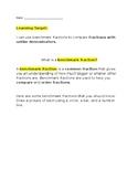 Benchmark Fractions worksheet/ packet