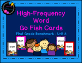 Benchmark High-Frequency Word Go Fish Cards - Unit 3