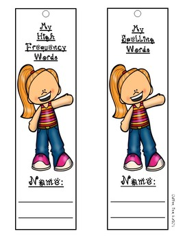 Benchmark High Frequency and Spelling Word Cards for Units 1 - 10 First Grade