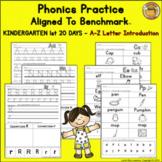 Benchmark Advance© Kindergarten - 1st 20 Days/Unit 1 Phoni