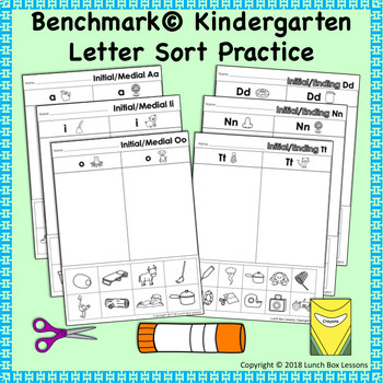 Benchmark Advance © Kindergarten Letter Sort Supplements