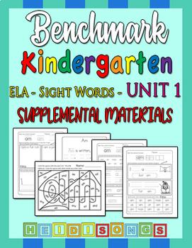 Benchmark Kindergarten Unit 1 - Sight Words Supplemental Materials