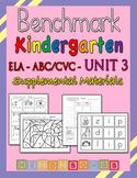 Benchmark Advance Kindergarten ABC/CVC Unit 3 - Heidi Songs Supplement Materials