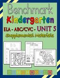 Benchmark Advance Kindergarten ABC/CVC Unit 5 - Heidi Songs Supplement Materials