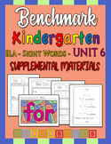 Benchmark Kindergarten Unit 6 - Sight Words Supplemental M