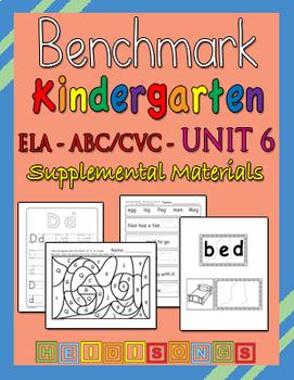 Benchmark Advance Kindergarten Unit 6 - Supplemental Materials
