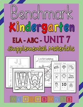Benchmark Advance Kindergarten Unit 7 - Supplemental Materials