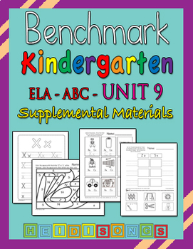 Benchmark Advance Kindergarten Unit 9 - Supplemental Materials