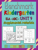 Benchmark Advance Kindergarten Unit 9 - Supplemental Materials