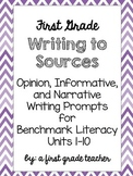 Benchmark Literacy 1st Grade Writing to Sources Prompts
