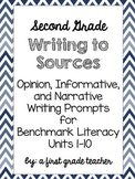 Benchmark Literacy 2nd Grade Writing to Sources Prompts