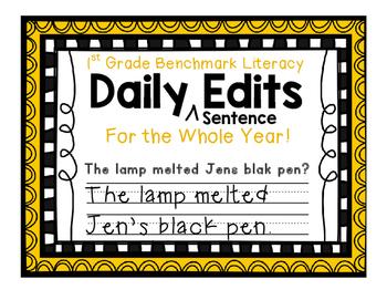 Benchmark Literacy Build Up Phonics Daily Sentence Edits