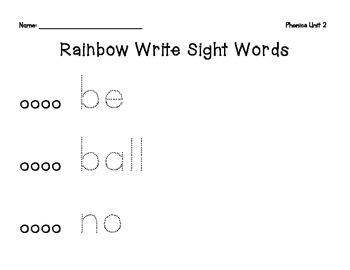 Benchmark Literacy Build Up Phonics Rainbow Write Sight Words