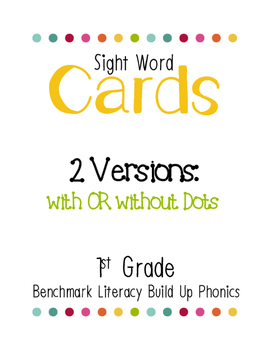 Benchmark Literacy Build Up Phonics Sight Word Cards