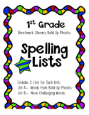 Benchmark Literacy Build Up Phonics Spelling Lists