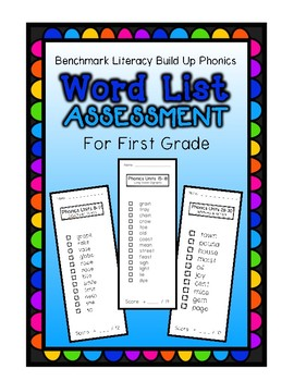 Benchmark Literacy Build Up Phonics Word List Decoding Assessment