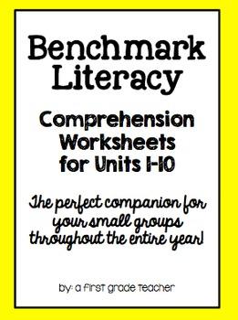 Benchmark Literacy Comprehension Worksheets for 1st Grade BUNDLE