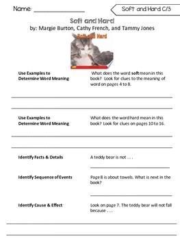 Benchmark Literacy Comprehension Worksheets for 1st Grade Unit 1