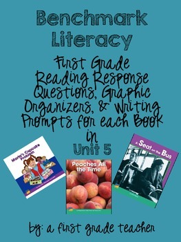 Benchmark Literacy Comprehension Worksheets for 1st Grade Unit 5