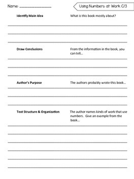 Benchmark Literacy Comprehension Worksheets for 1st Grade Unit 6